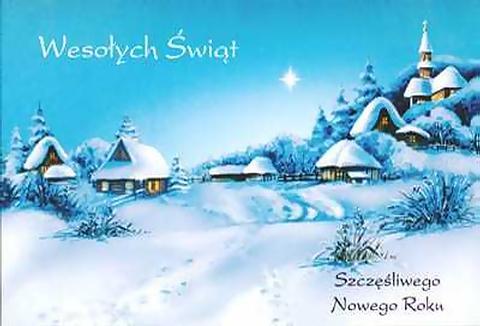 Привітання з Різдвом польською