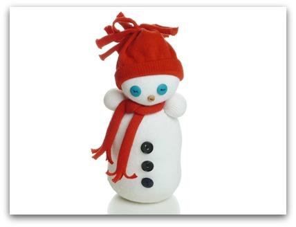 Сніговик з шкарпеток