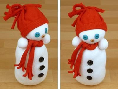 Сніговик з шкарпеток - фото 12