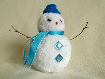 Сніговик з помпонів - фото 9