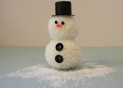 Сніговик з помпонів - фото 10