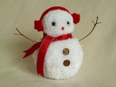 Сніговик з помпонів - фото 8