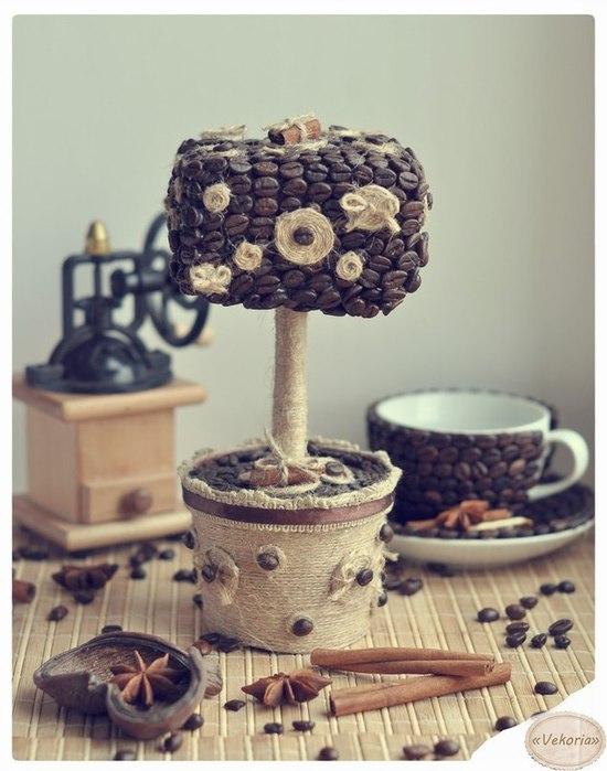 Декорування кавовими зернами