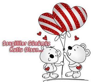 Привітання з днем Святого Валентина турецькою