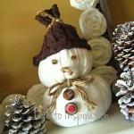 Сніговик з тканини