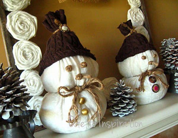 Сніговик з тканини - фото 10