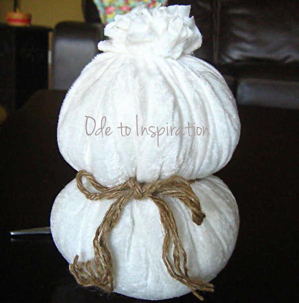 Сніговик з тканини - фото 6