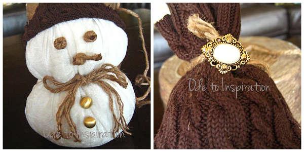 Сніговик з тканини - фото 9