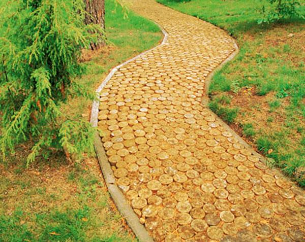 Доріжка з спилів дерева - фото 2
