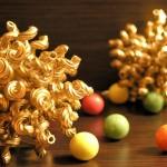 Новорічні іграшки з макаронів - фото 14