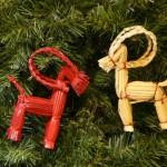 Новорічні іграшки з соломи - фото 3