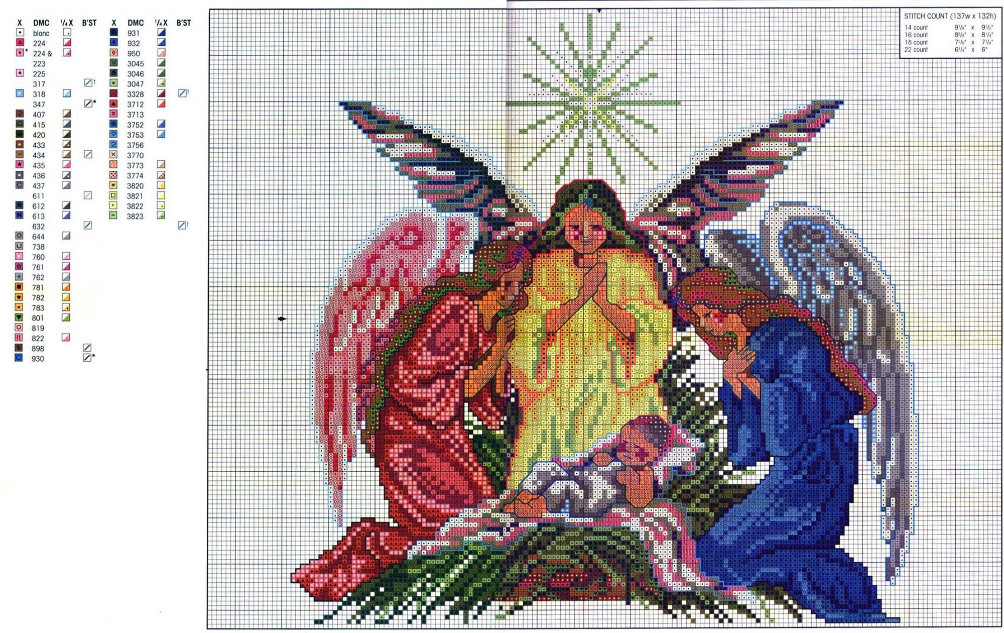 Різдвяні схеми вишивки