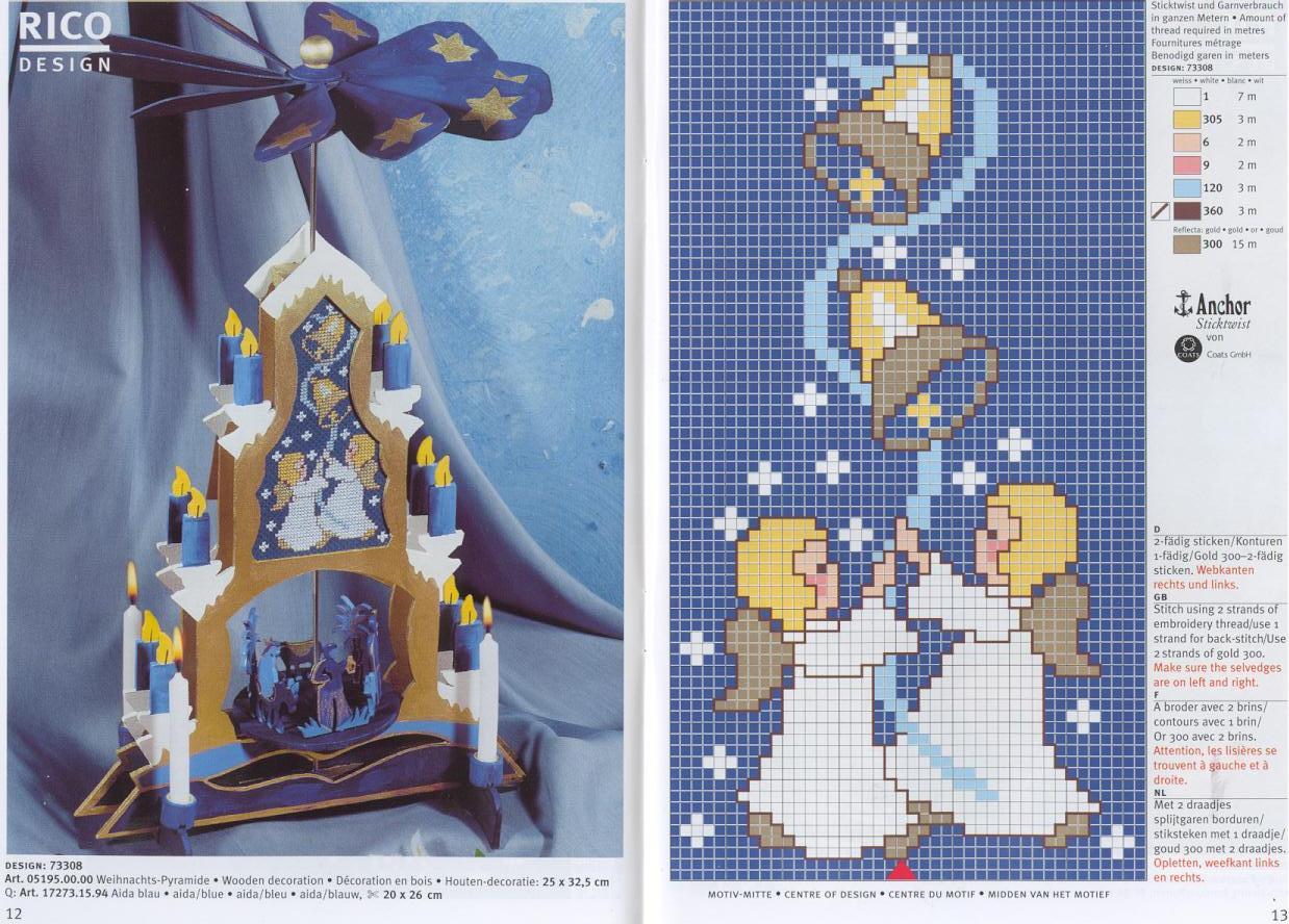Різдвяні схеми вишивки - фото 2