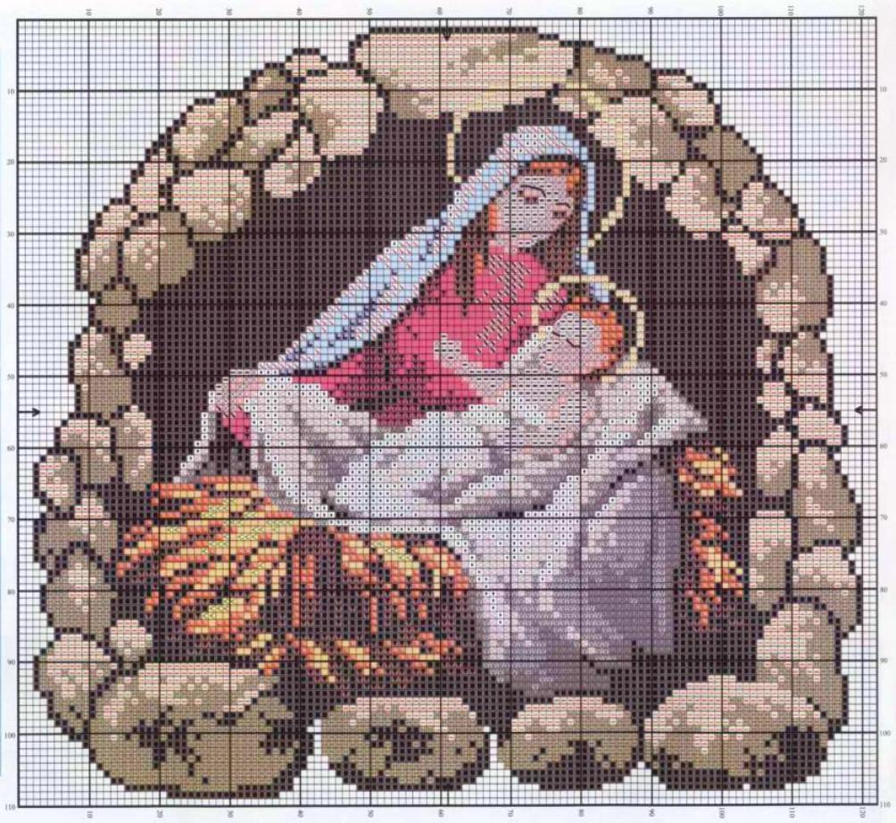 Різдвяні схеми вишивки - фото 6