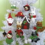 В'язані новорічні іграшки