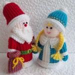 В'язані новорічні іграшки - фото 20