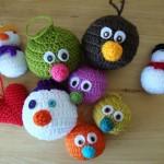 В'язані новорічні іграшки - фото 23