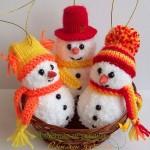 В'язані новорічні іграшки - фото 26