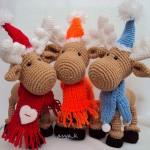 В'язані новорічні іграшки - фото 27