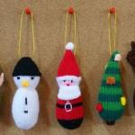 В'язані новорічні іграшки - фото 6