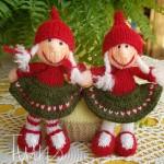 В'язані новорічні іграшки - фото 9