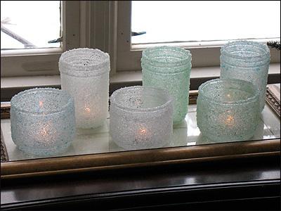 Новорічний свічник із скляної банки і морської солі - фото 2
