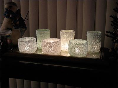 Новорічний свічник із скляної банки і морської солі - фото 9