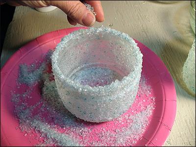 Новорічний свічник із скляної банки і морської солі - фото 7
