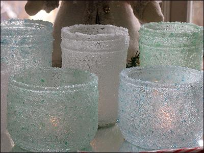 Новорічний свічник із скляної банки і морської солі - фото 8