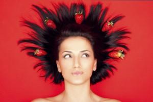 Маски з полуниці для волосся