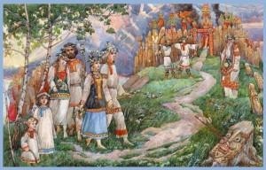 Весільні звичаї і обряди слов'ян.