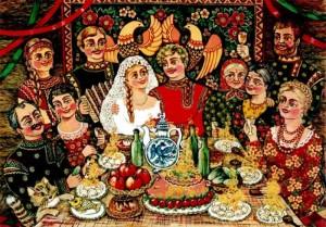Весільні звичаї слов'ян.
